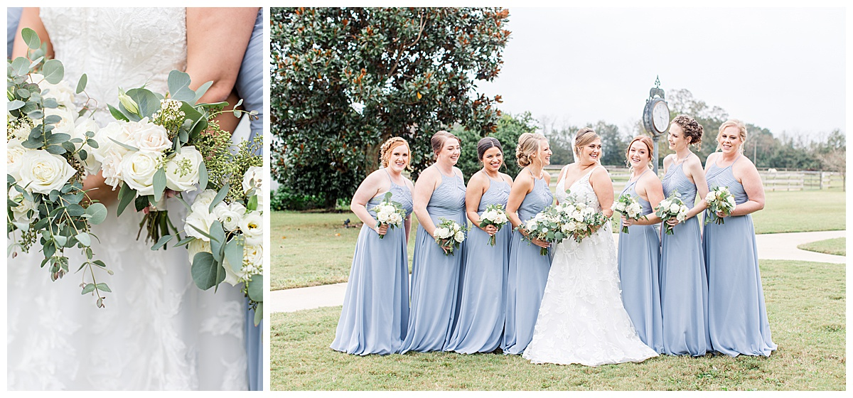 Bridesmaids portraits by Goodie and Smith Weddings at Laurel Hill Farm