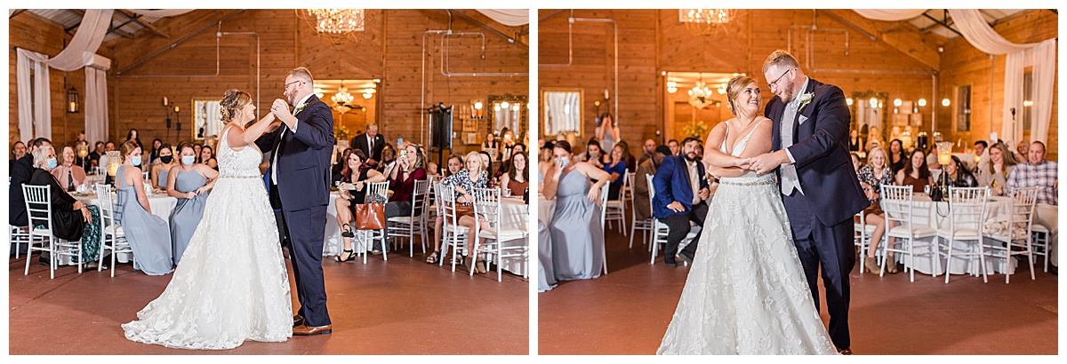 first dance during Reception at Laurel Hill Farm