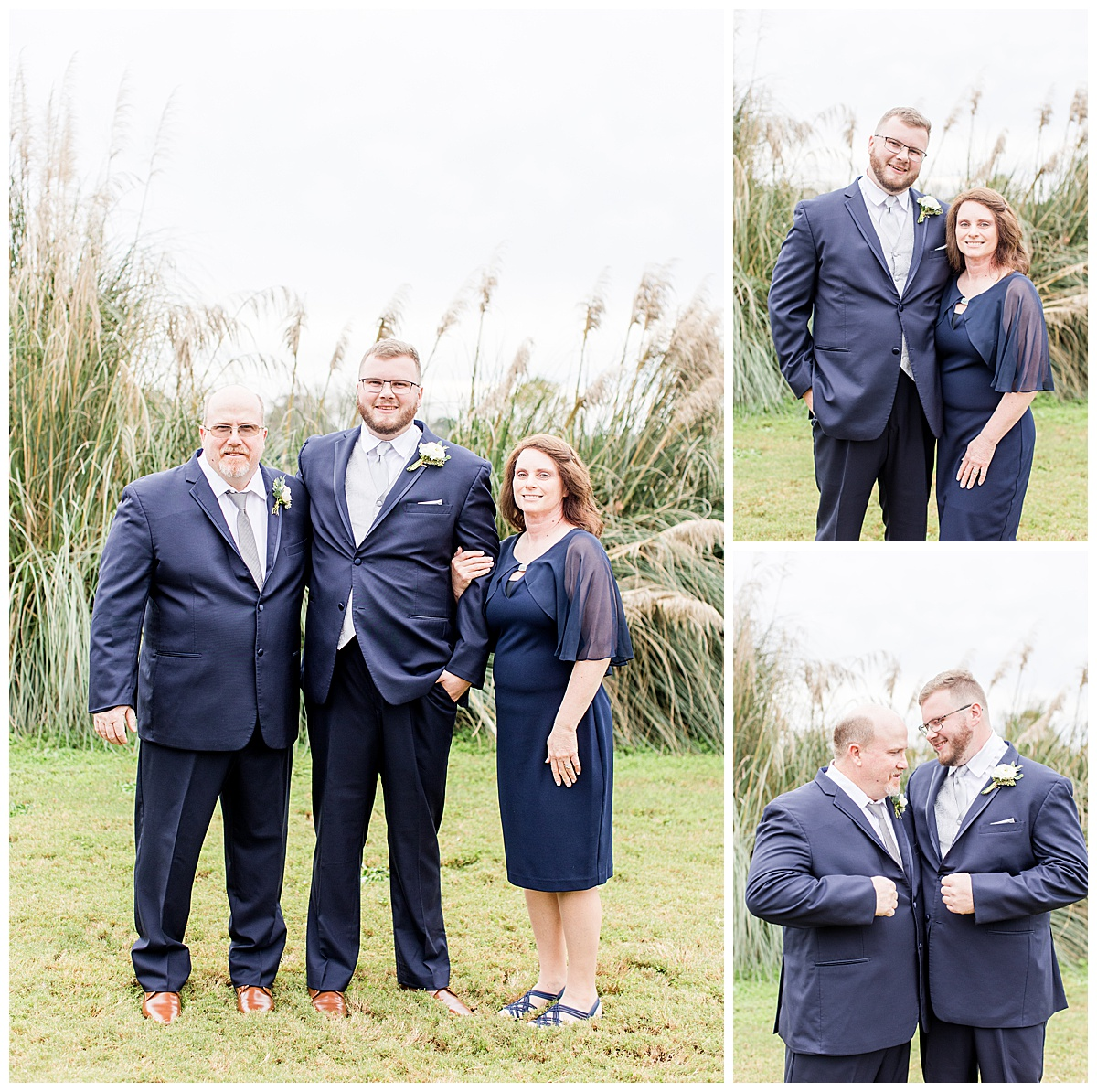 Formal Family Portraits on the wedding day at Laurel Hill Farm