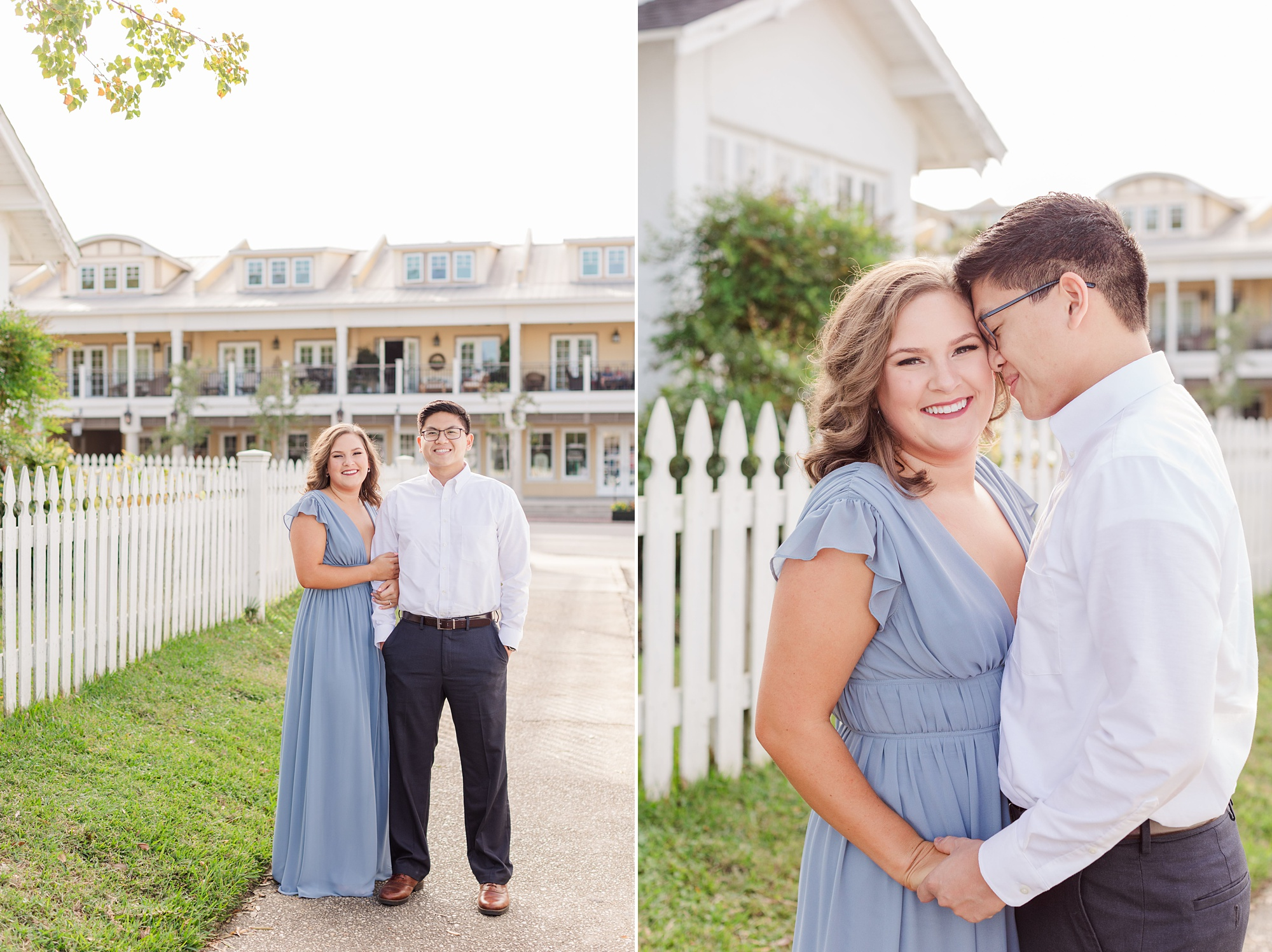 casual fall engagement portraits in Alabama
