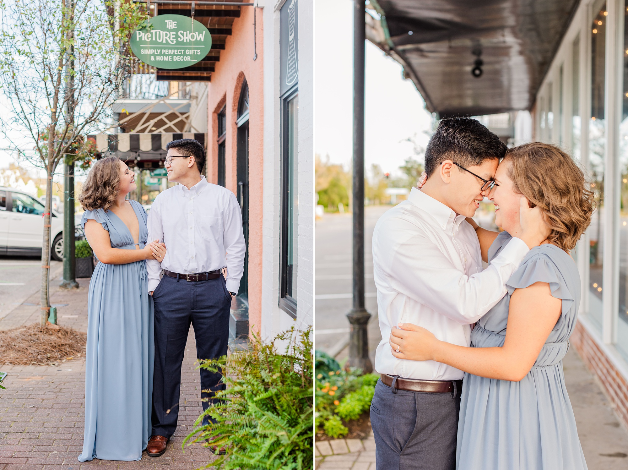 engagement session in Downtown Fairhope with Goodie and Smith Weddings