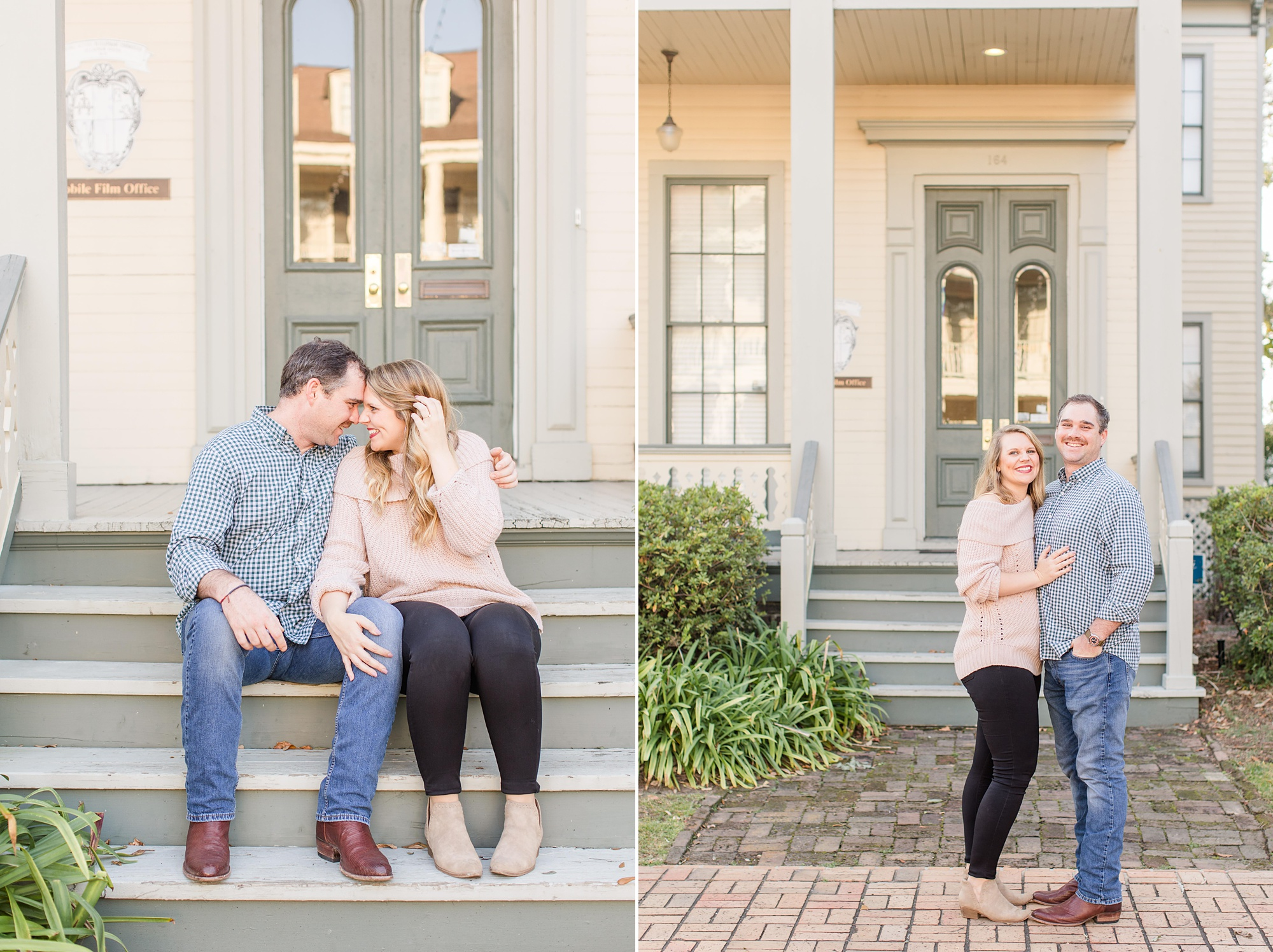 Fort Conde Inn engagement session with Goodie and Smith Weddings