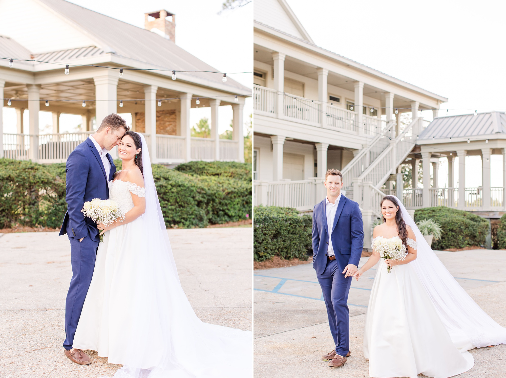 romantic winter wedding portraits at Heron Pointe at the Wharf