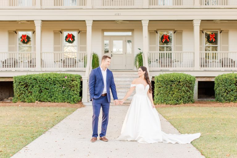 winter wedding photos at Heron Pointe at the Wharf in Orange Beach