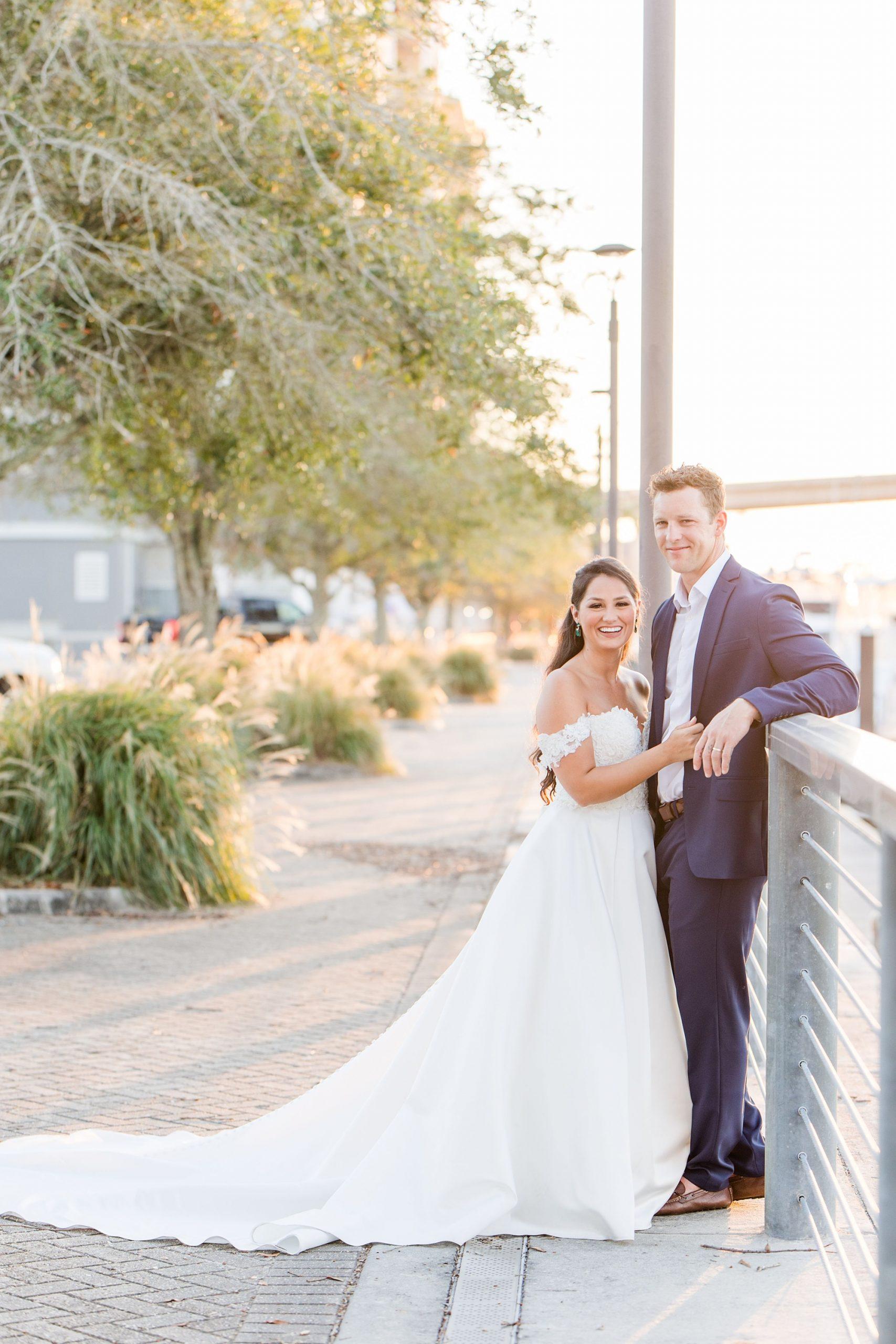 bride laughs during Orange Beach AL wedding photos