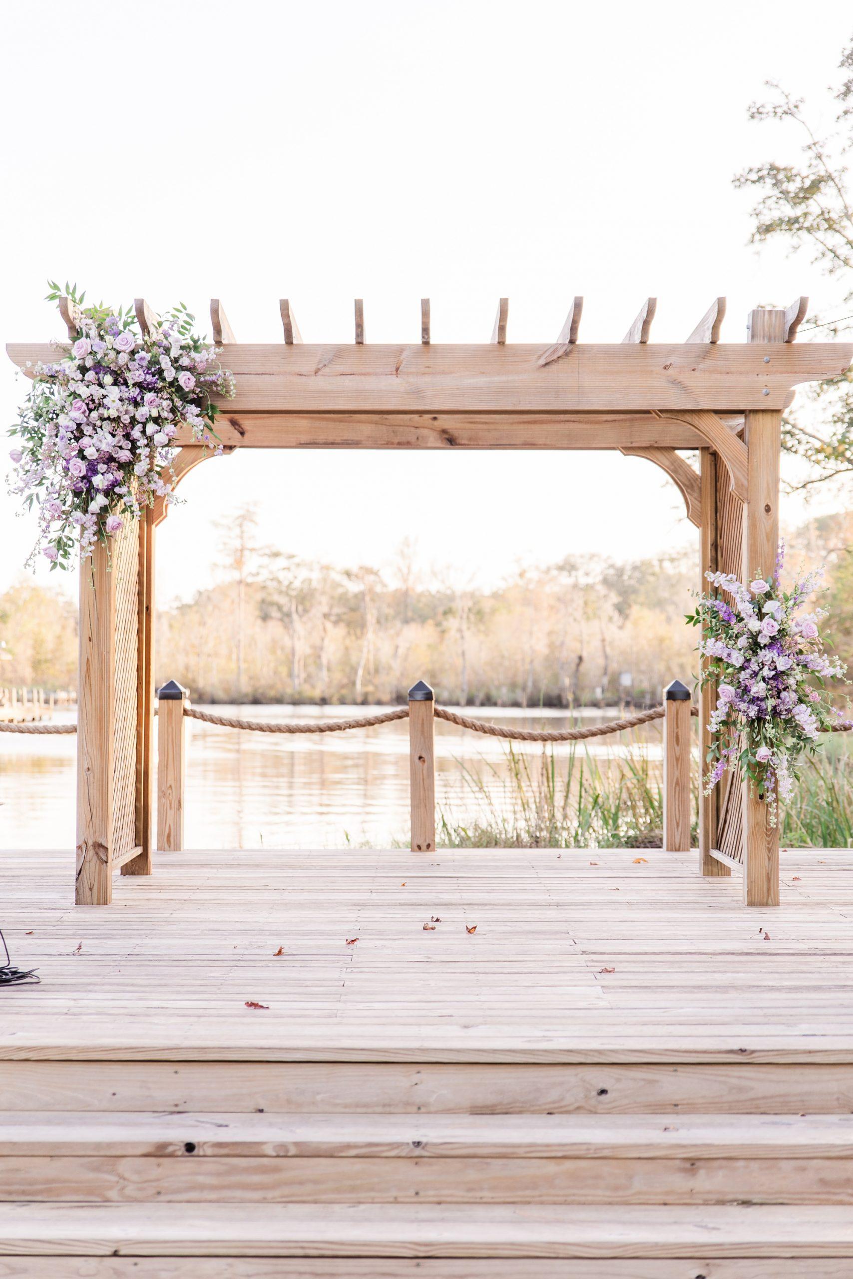 waterfront wedding ceremony in Satsuma AL