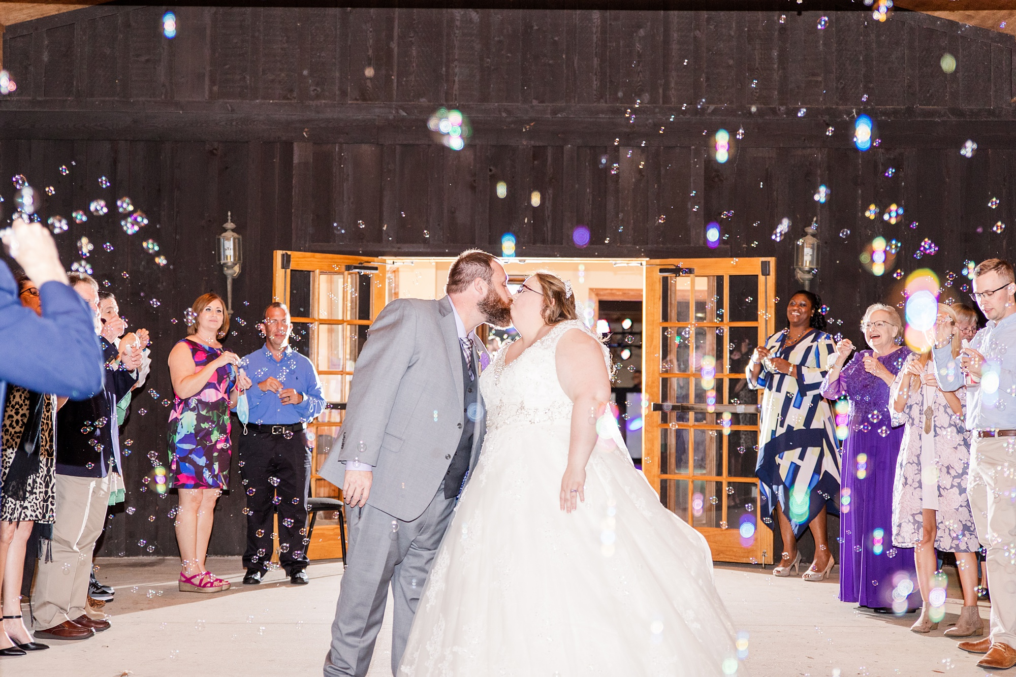 bubble exit to end intimate Satsuma wedding