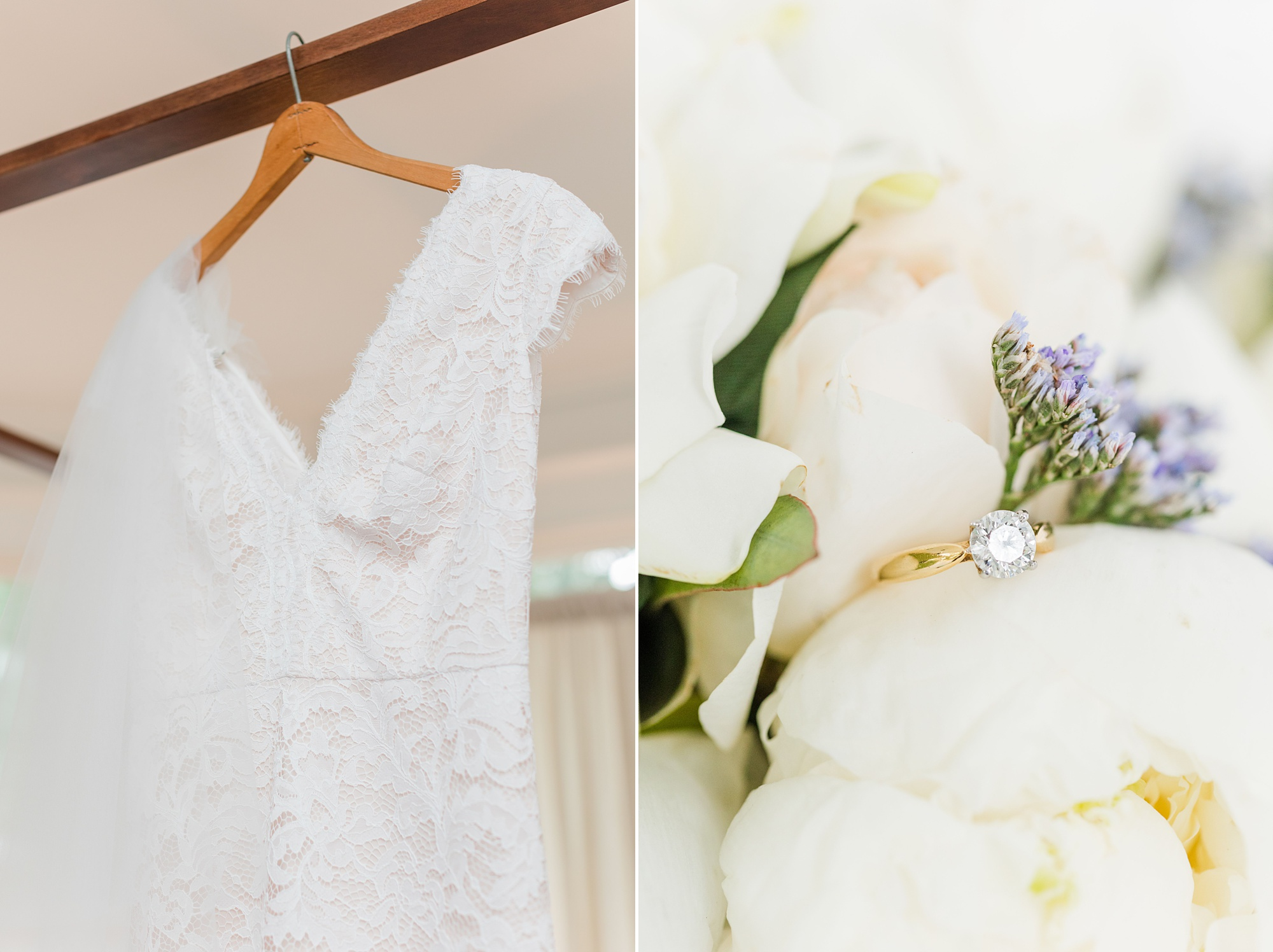 bride's details in childhood home before intimate Springhill wedding