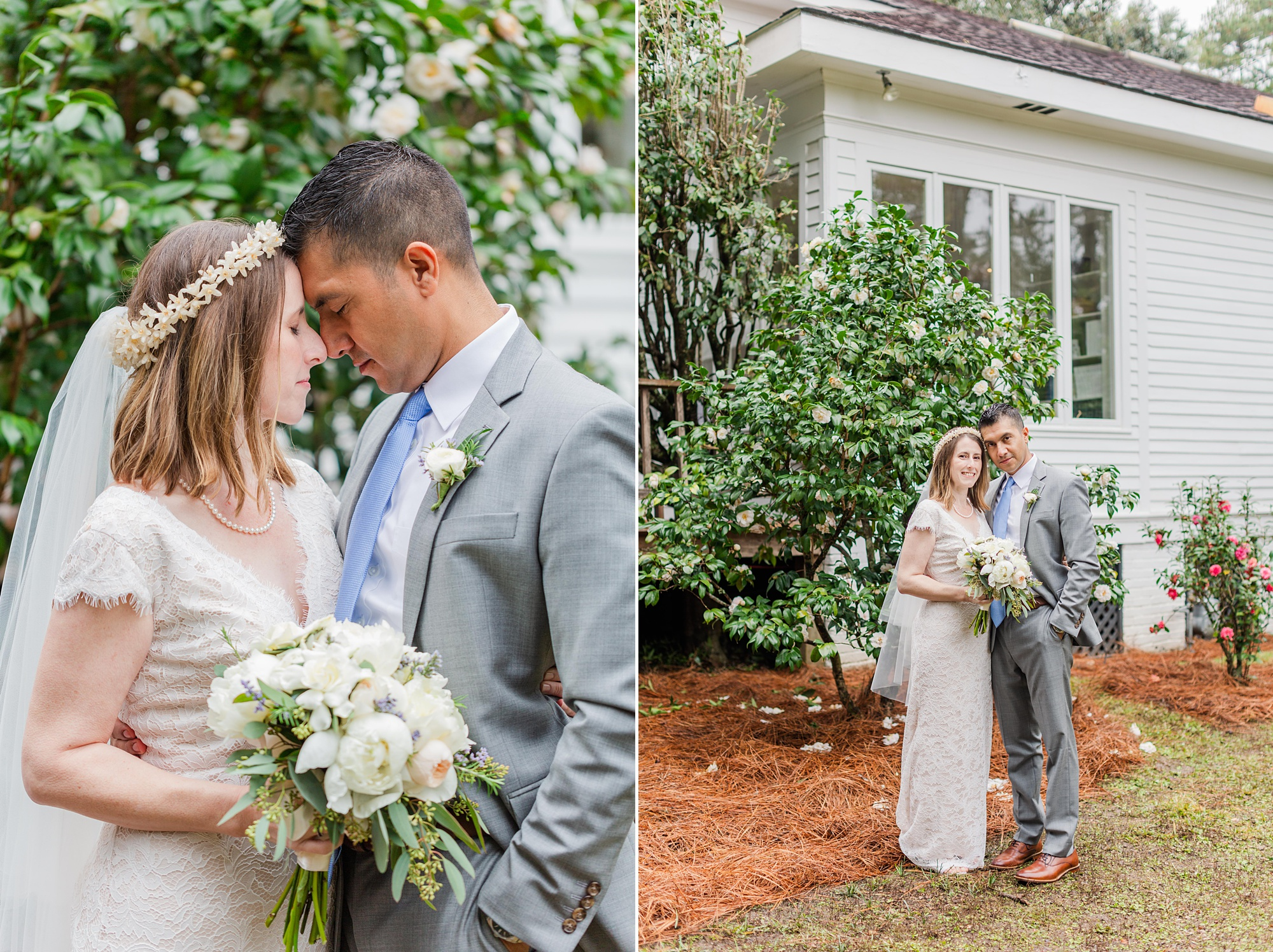 romantic Springhill wedding portraits in Alabama