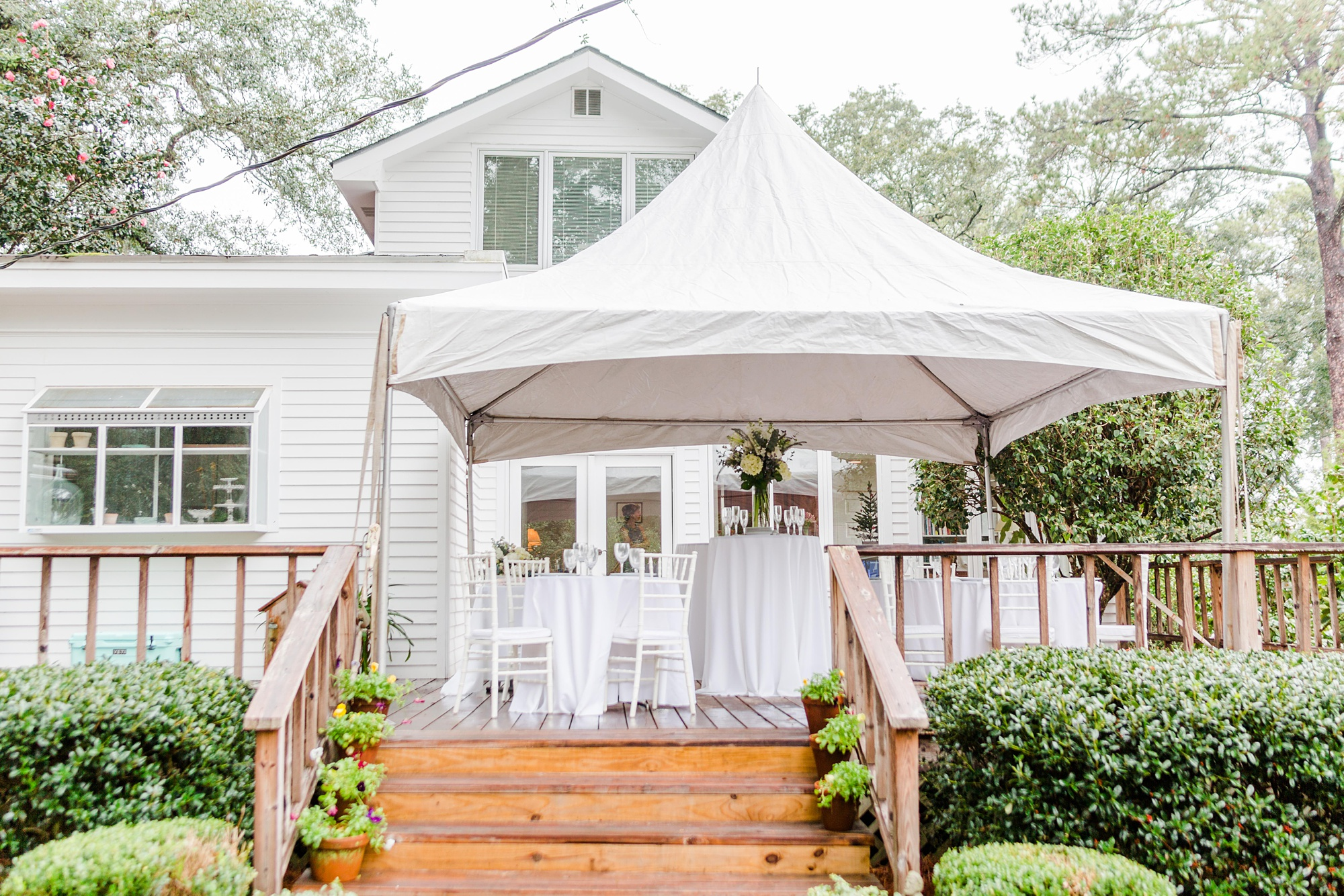 tented wedding reception for Springhill wedding