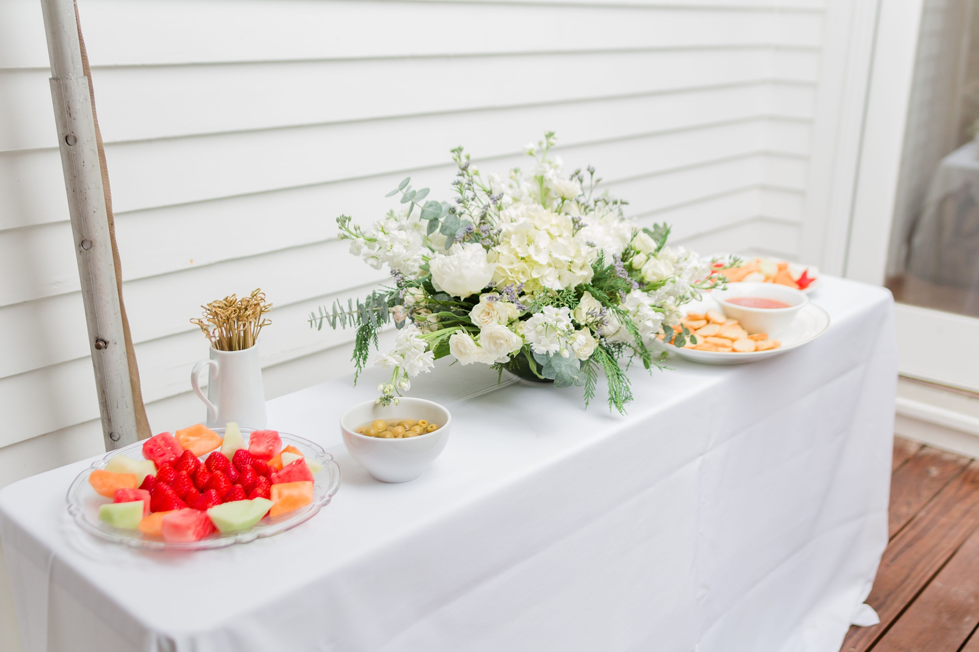 food for intimate Springhill wedding reception