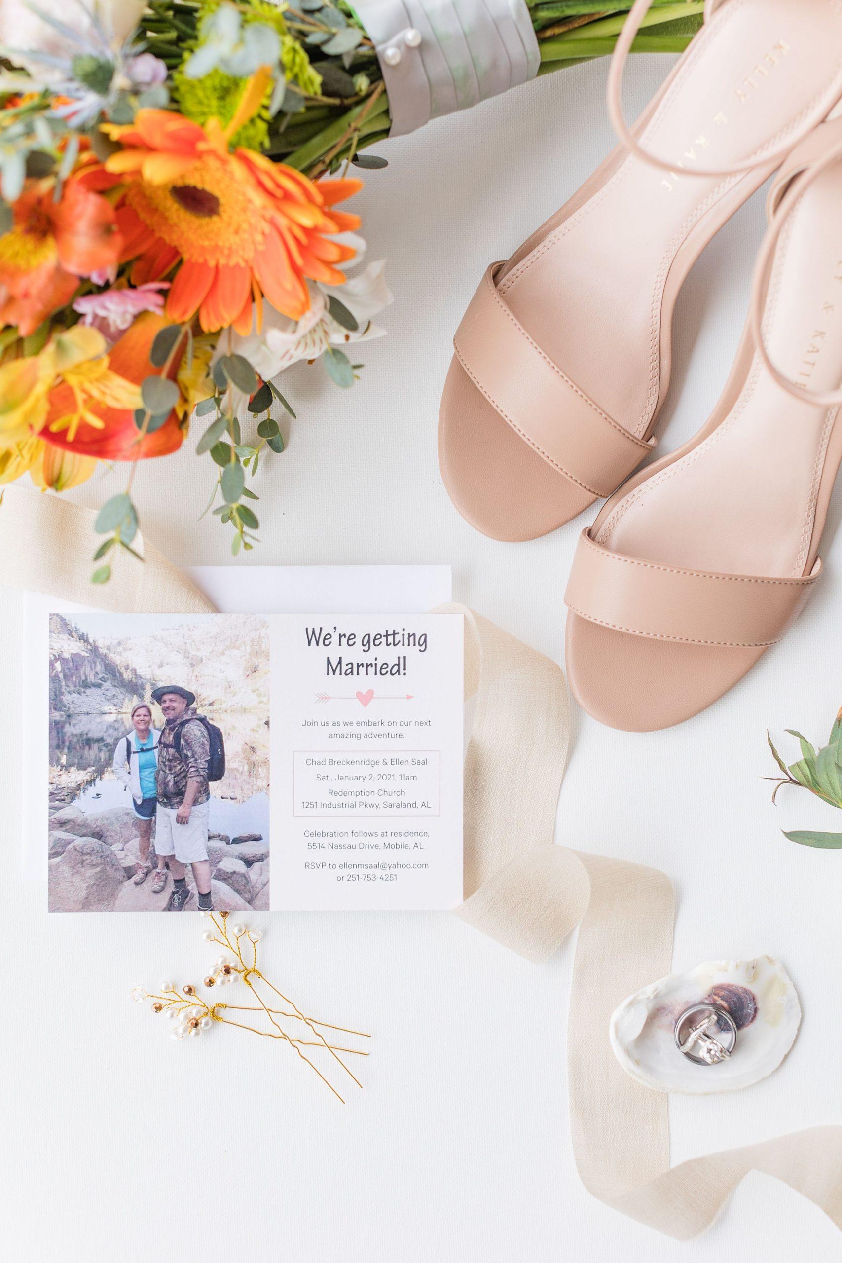 wedding details for Intimate Mobile AL Wedding