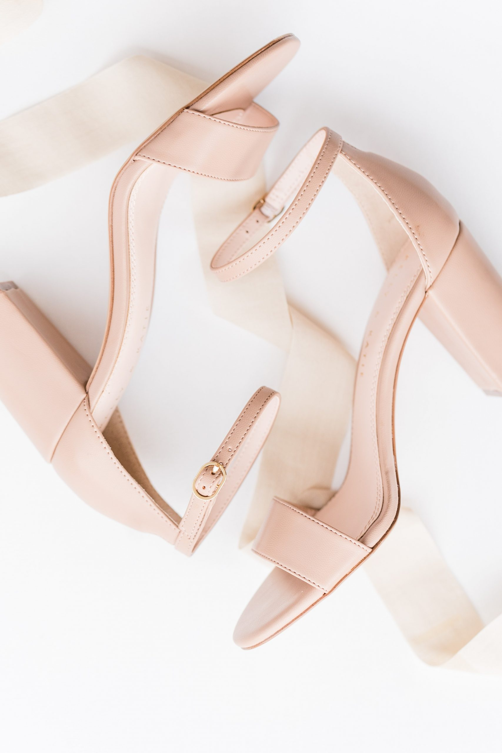 blush heels for the bride for Alabama wedding day