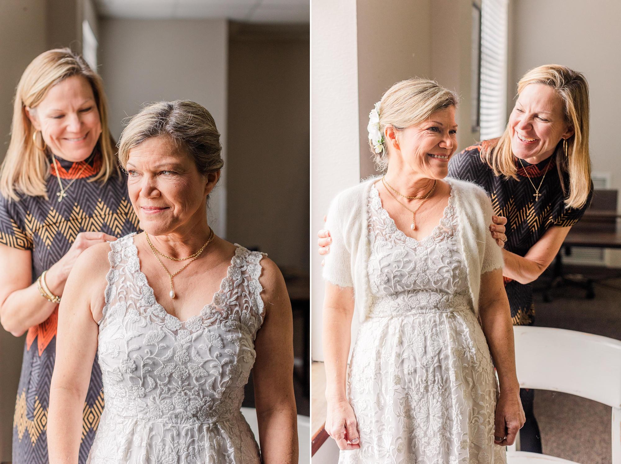 bride prepares for Intimate Mobile AL Wedding