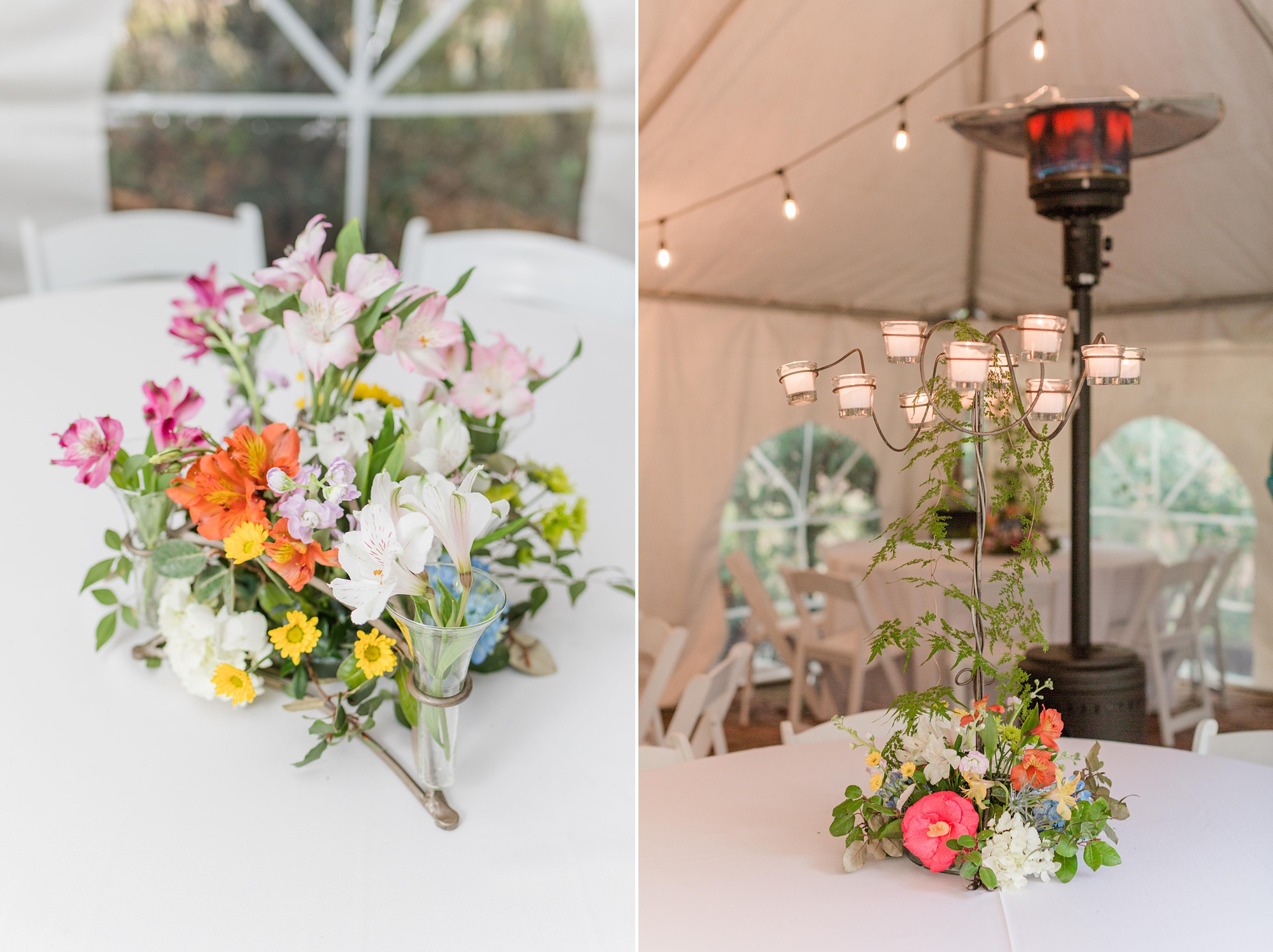 backyard wedding reception at Spring Hill home