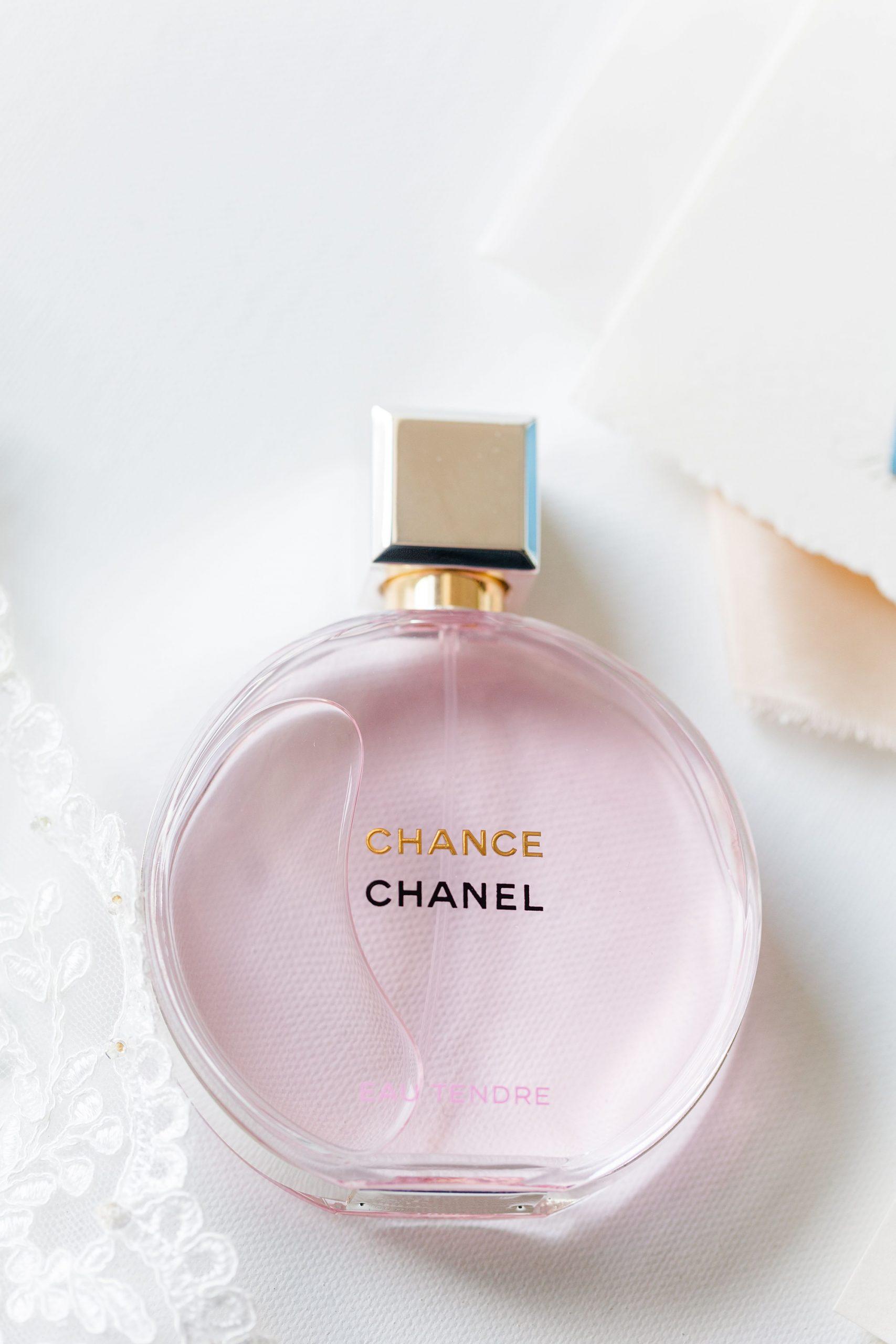 Chanel perfume bottle for bride