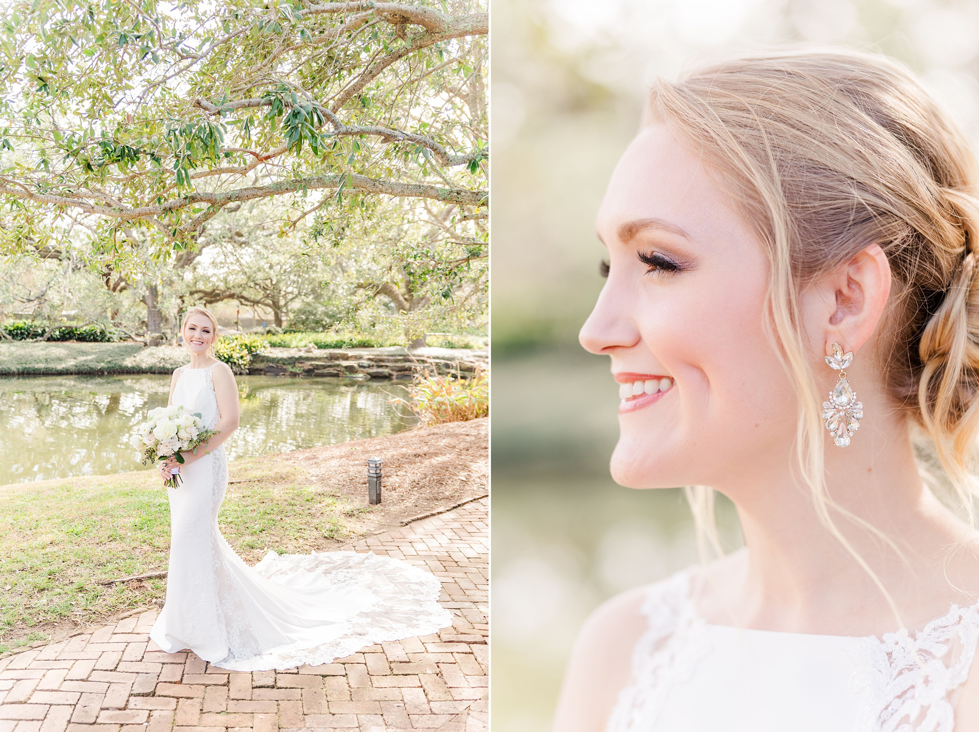 classic southern bridal portrait in Magnolia Springs