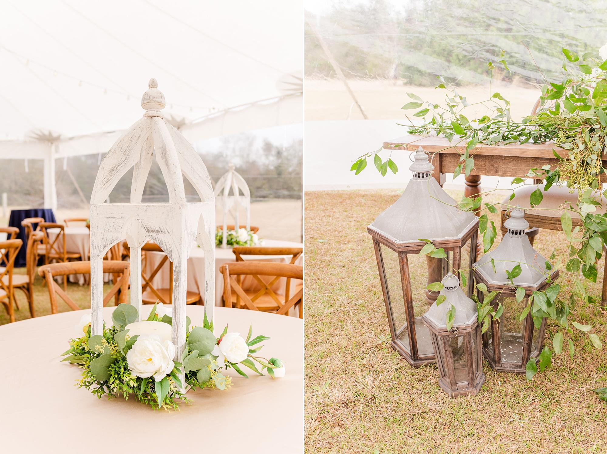lantern decor for outdoor wedding reception