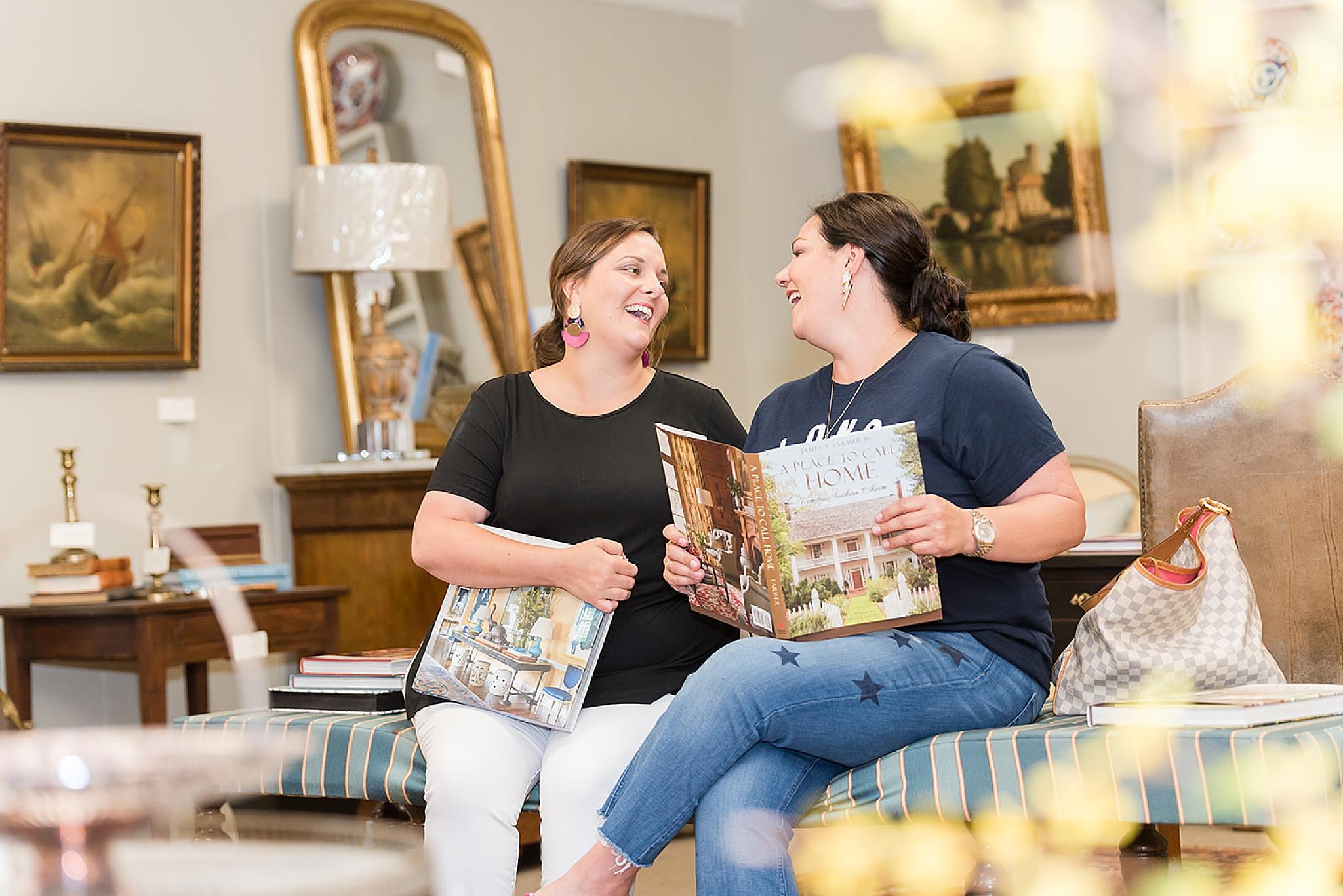 designers laugh during Fairhope AL branding portraits