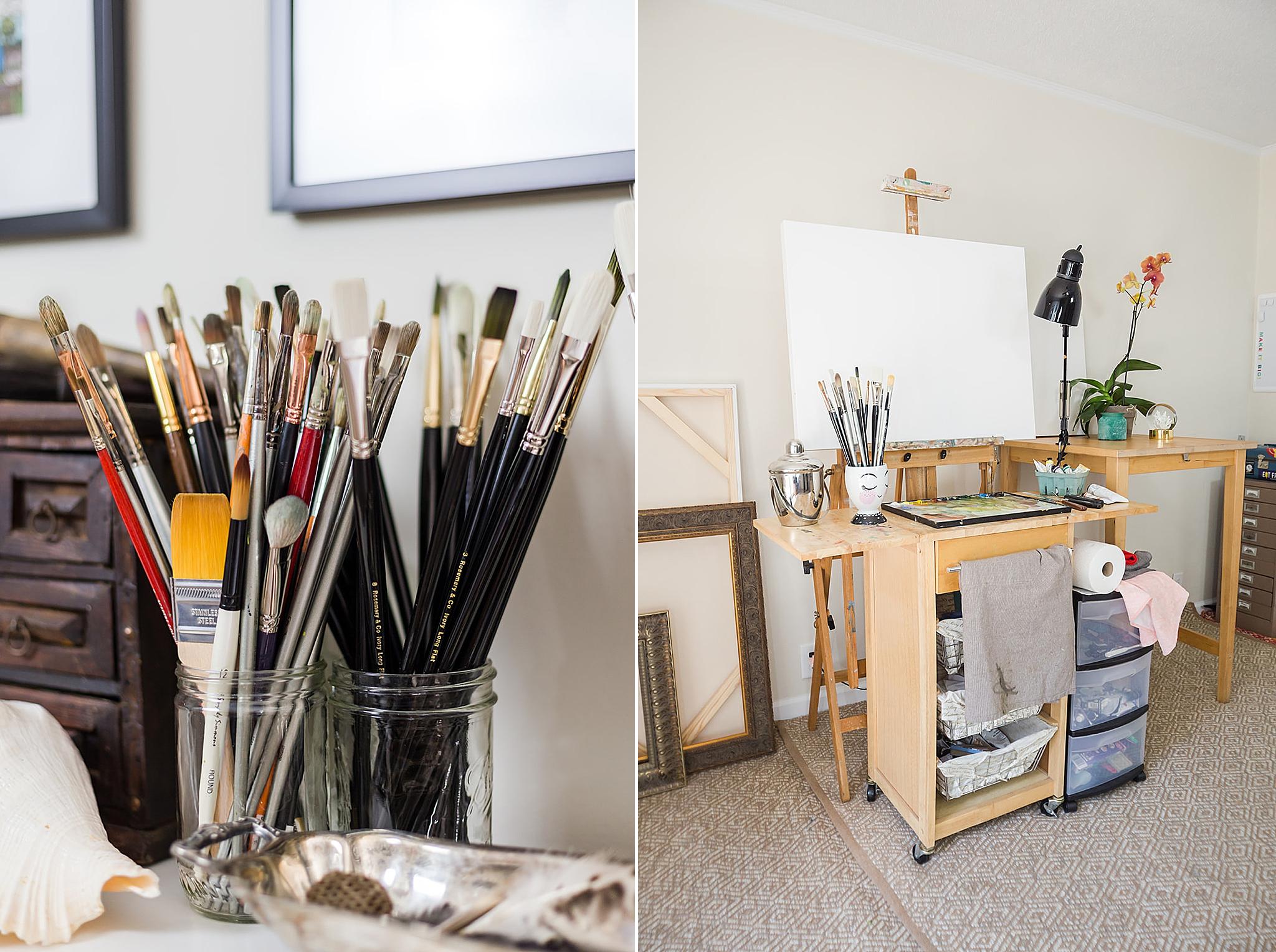 Alabama home studio for local artist