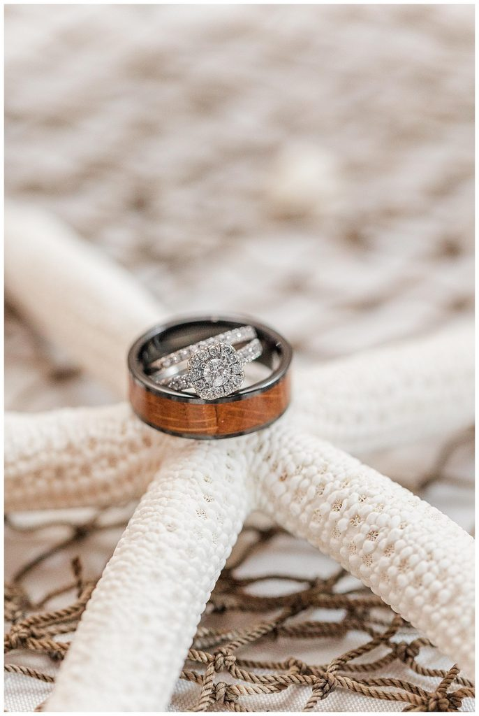 starfish wedding bands photo