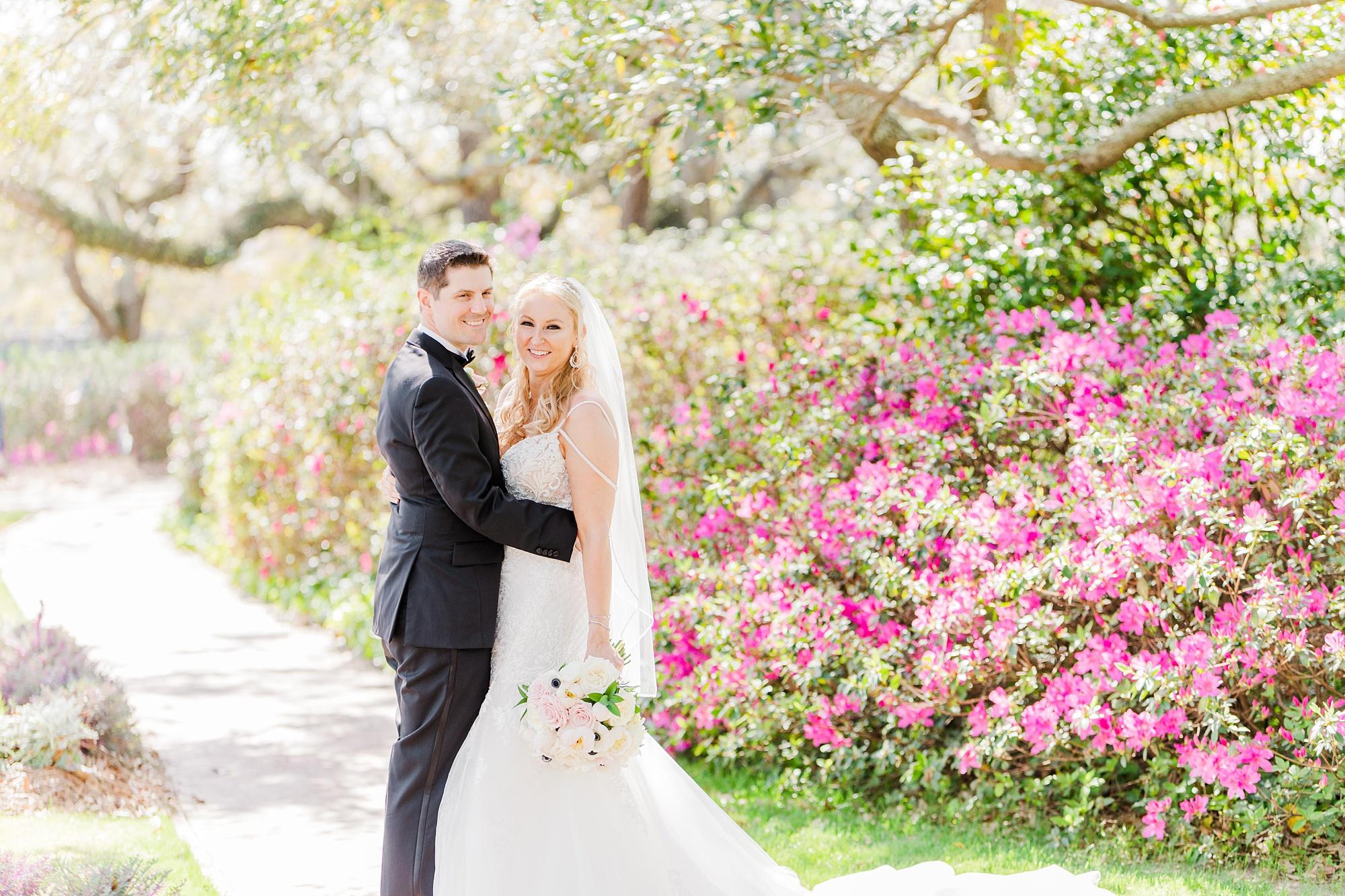 spring wedding portraits in Point Clear AL