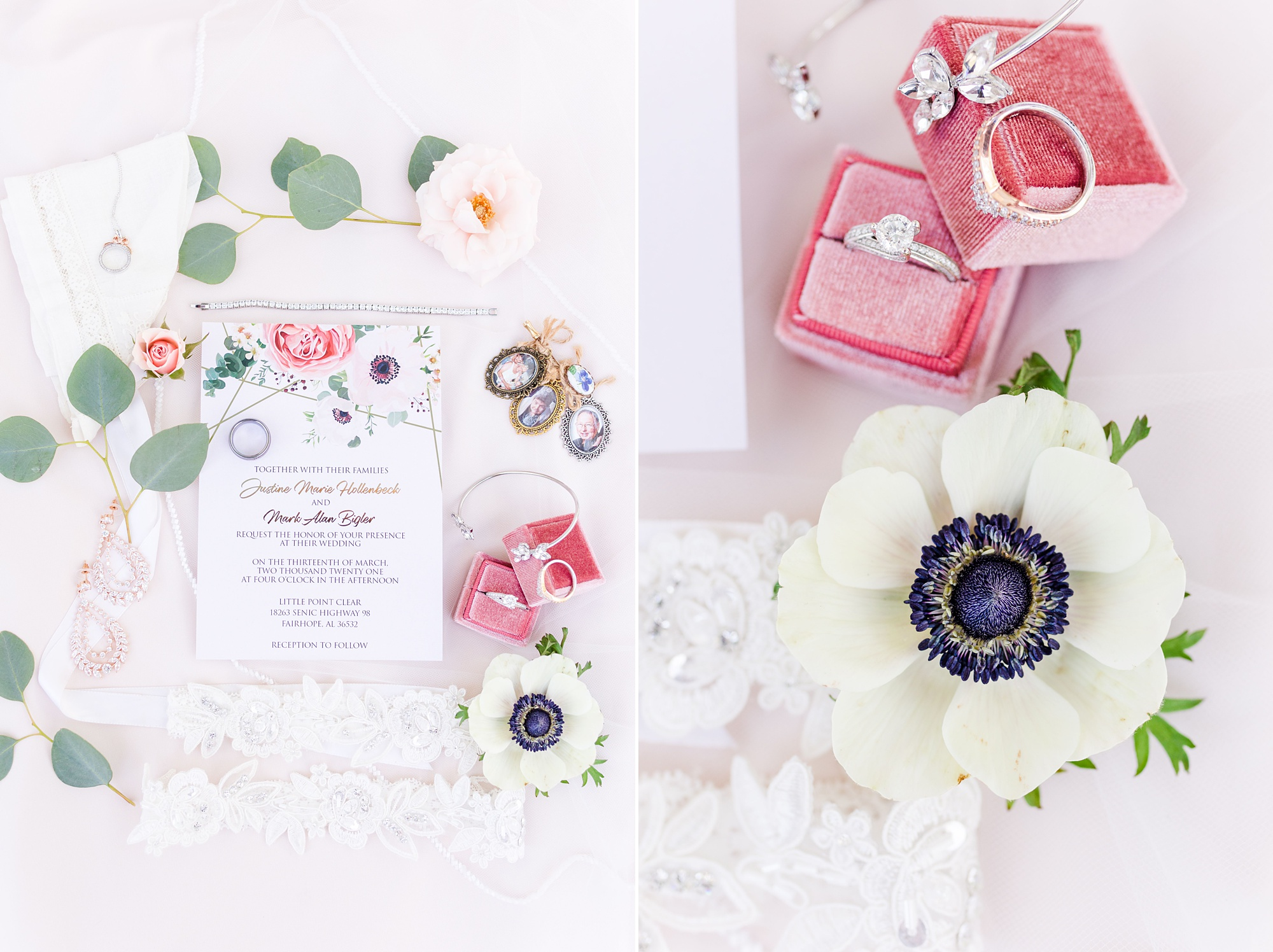 spring wedding day details in Fairhope AL