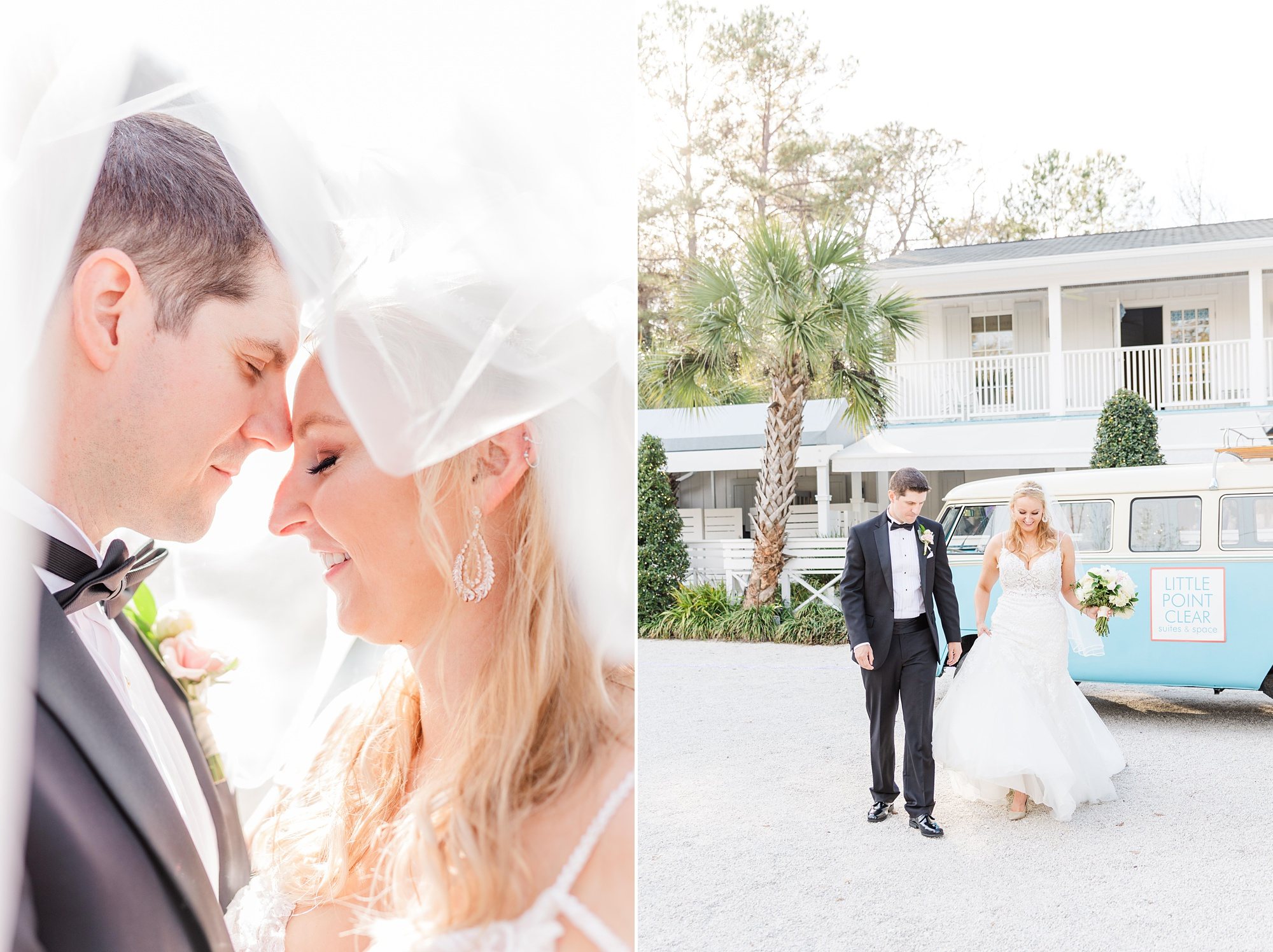 Alabama wedding portraits at Little Point Clear