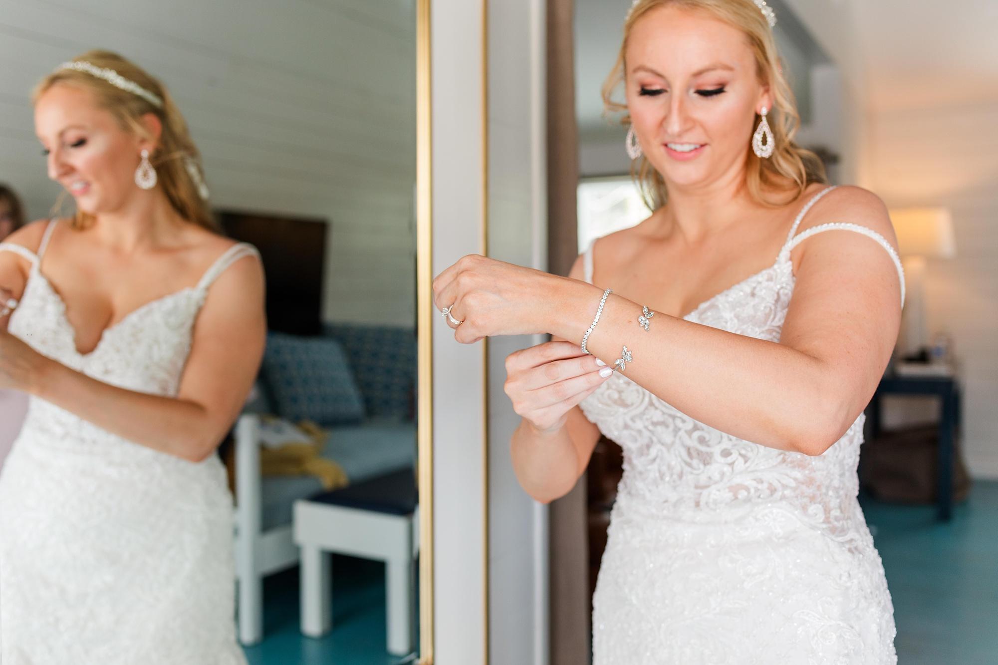 bride prepares for Fairhope AL wedding day