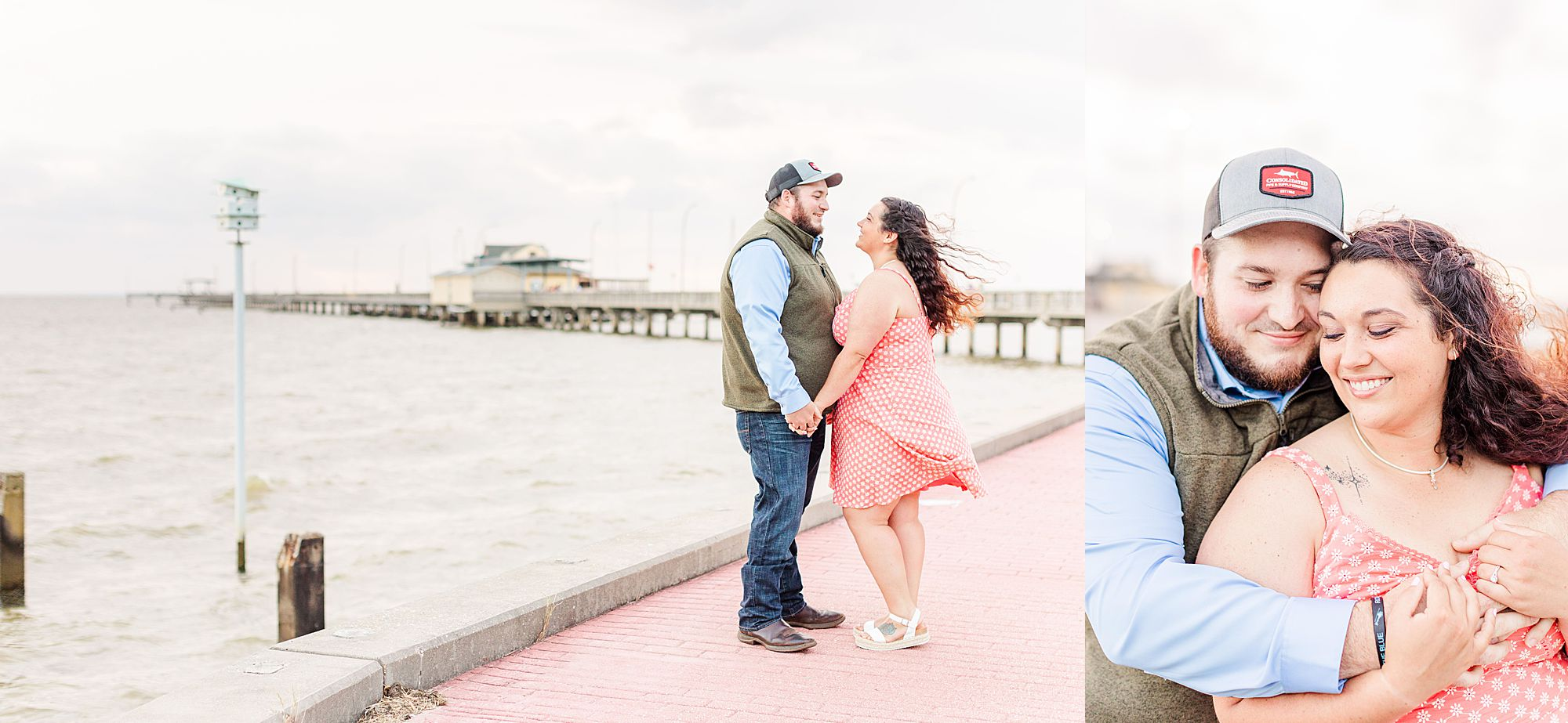 Engagement Session by pier