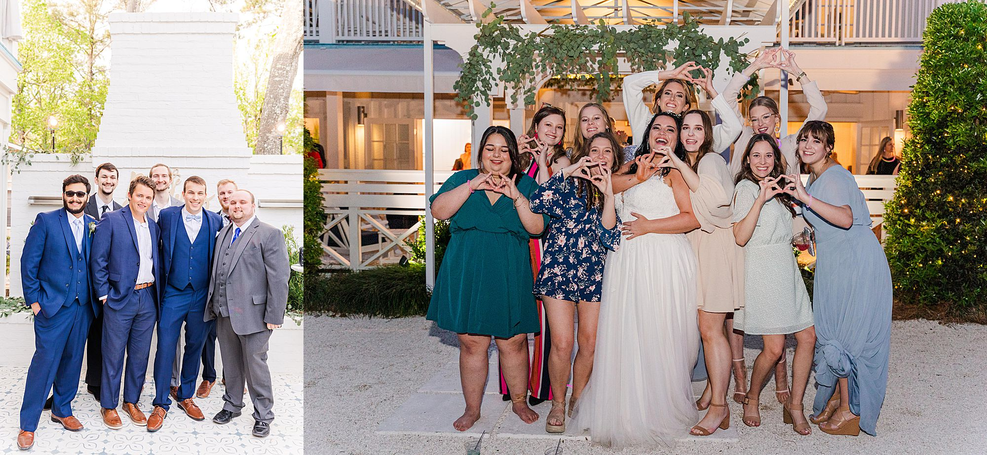 bride with sorority sisters