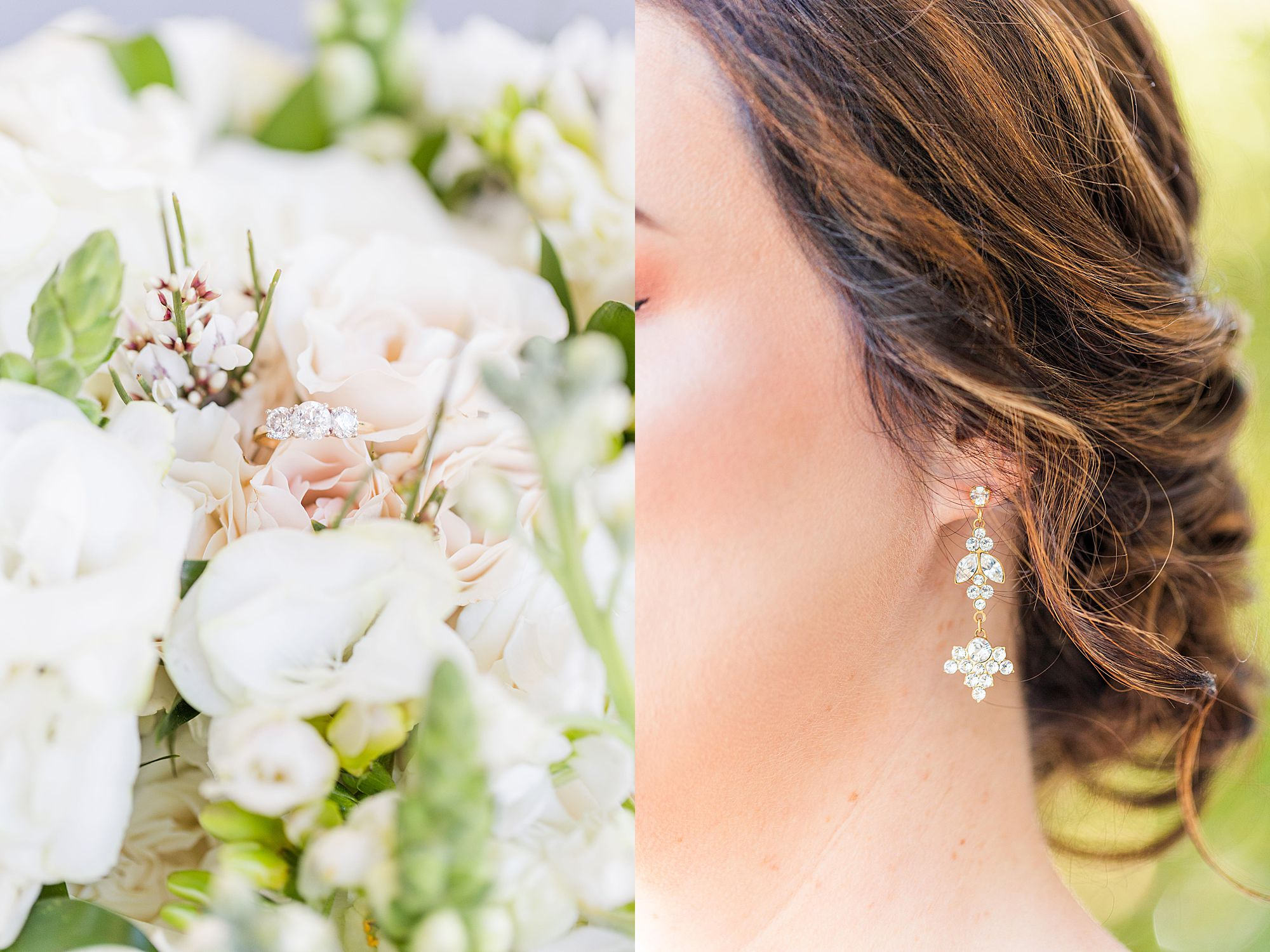 Bridal portraits detail photos of jewelry
