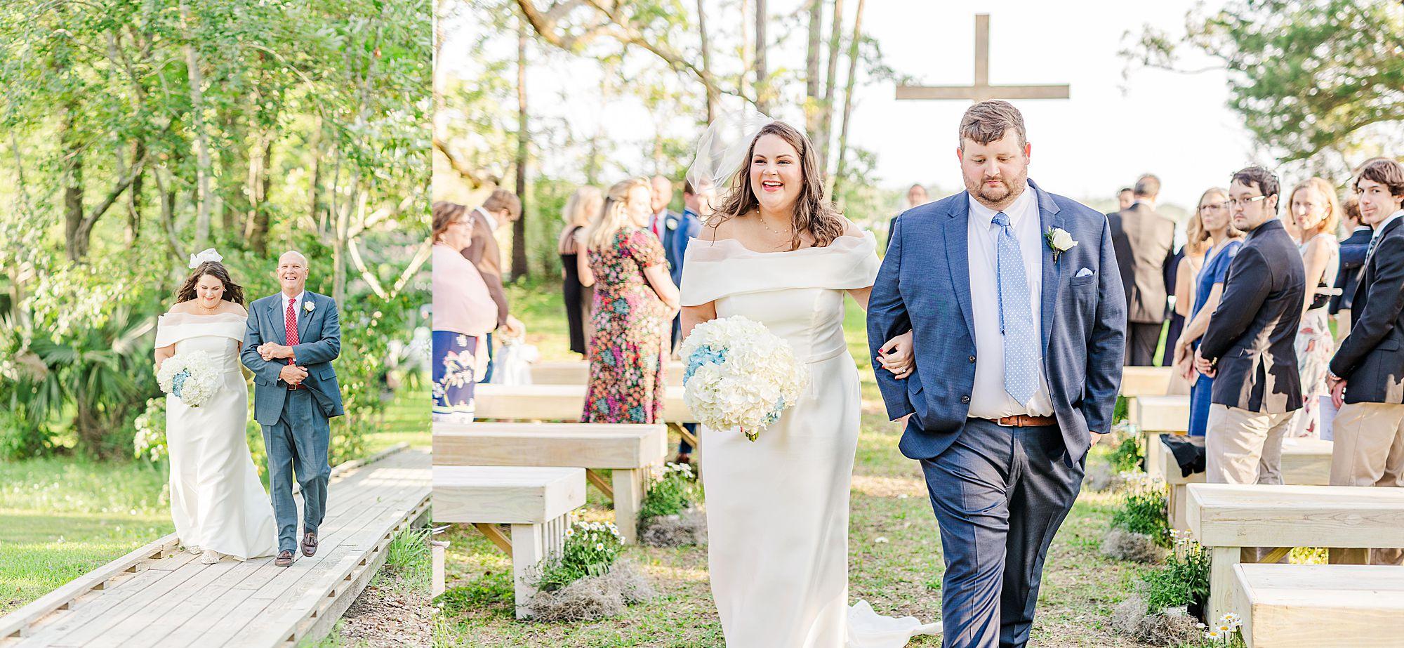 wedding ceremony on Dog River in Mobile AL
